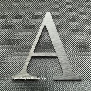 Lettre metal deco alu brosse century