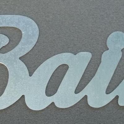 Lettre déco en zinc BAIN