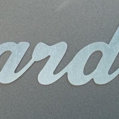 Lettre métal déco JARDIN