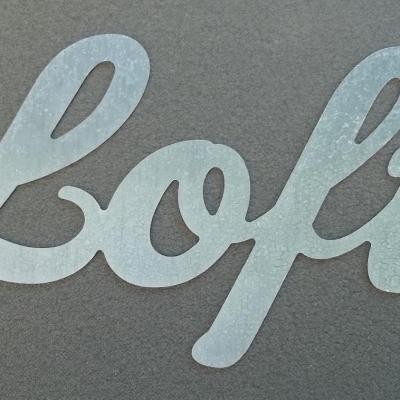 Lettre métal déco LOFT