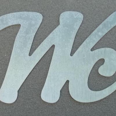 Lettre métal déco WC