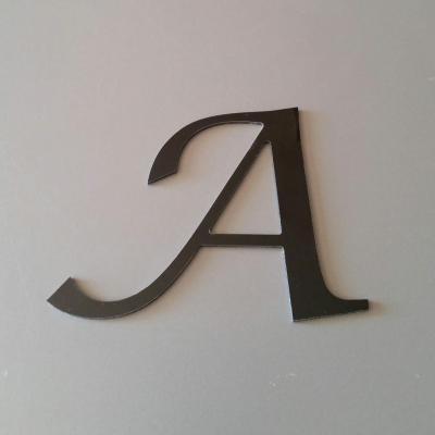 Lettre en alu DIBOND couleur & métal LUCIDA CALLIGRAPHY