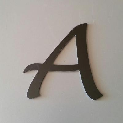 Lettre en alu DIBOND couleur & métal LUCIDA HANDWRITING