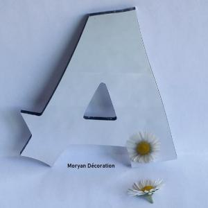 Lettre miroir decorative murale cancun