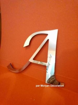 Lettre miroir modèle LUCIDA CAL