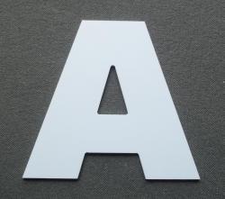 Découpe de lettre enseigne en plastique pvc ARIAL BLACK