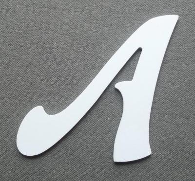 Découpe de lettre enseigne en plastique pvc FELIPE