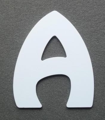 Découpe de lettre enseigne en plastique pvc HARLEQUIN