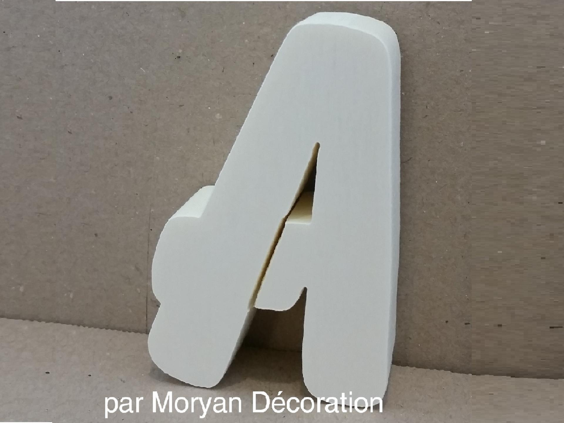 Lettre polystyrene decorative murale balloon