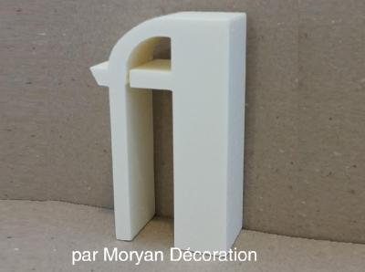 Lettre en polystyrène BETTY NOIR