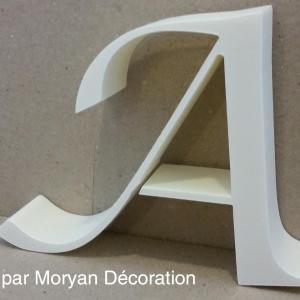 Lettre polystyrene decorative murale lucida calligraphy