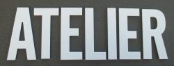 Lettre PVC : ATELIER