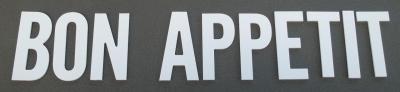 Lettre PVC : BON APPETIT
