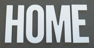Lettre PVC : HOME