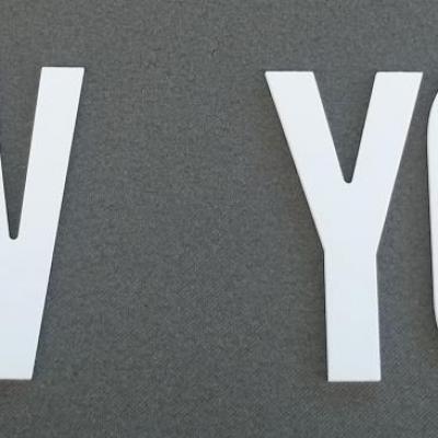Lettre PVC : NEW YORK