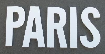 Lettre PVC : PARIS