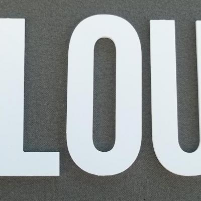 Lettre PVC : PLOUF