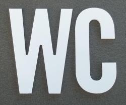 Lettre PVC : WC