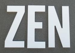 Lettre PVC : ZEN