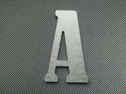 Découpe de lettre enseigne en alu brossé DIBOND BERNARD CONDENSED