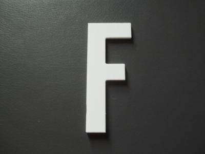 Lettre prénom PVC F