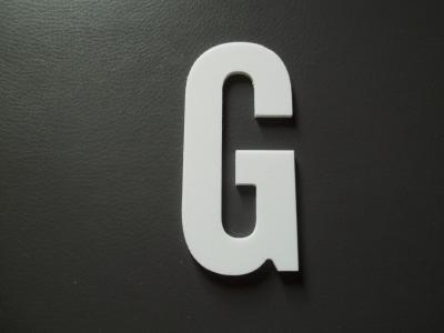 Lettre prénom PVC G