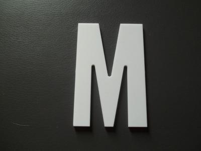 Lettre prénom PVC M