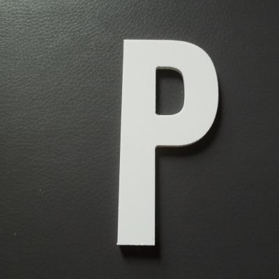 Lettre prénom PVC P