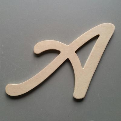 Lettres bois modèle LOMBRIZ