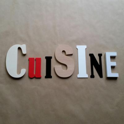 Lettres décoratives Cuisine