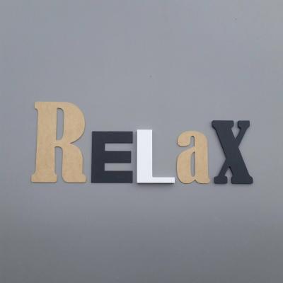 Lettres décoratives Relax