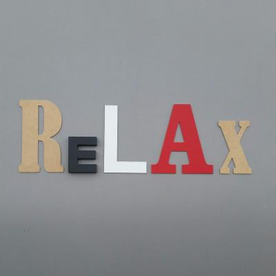 Lettres décoratives Relax