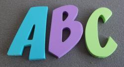 Lettres en bois déco couleur ZOINKS