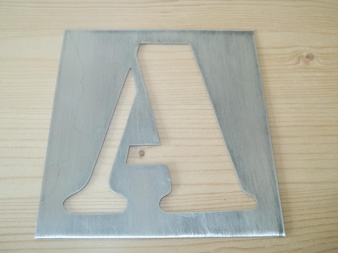 pochoir lettre en metal alphabet et chiffre ARMY CONDENSED