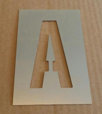 Pochoir lettre métal modèle ALTERNATE GOTHIC
