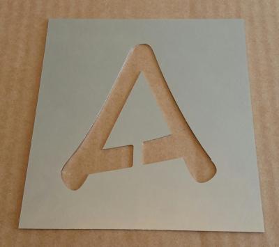Pochoir lettre métal modèle ANIME ACE