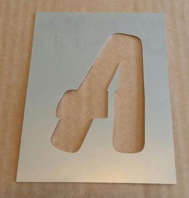 Pochoir lettre métal modèle BALLOON