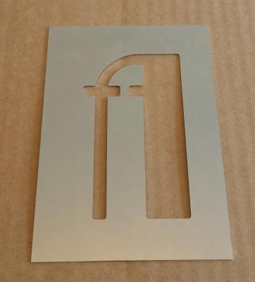 Pochoir lettre métal modèle BETTY NOIR