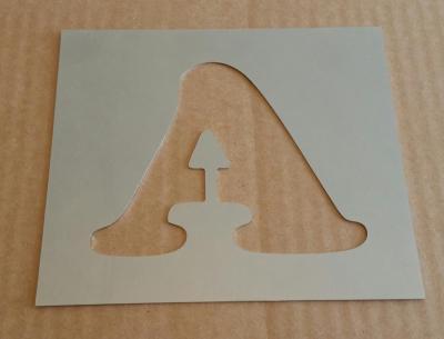 Pochoir lettre métal modèle COOPER BLACK