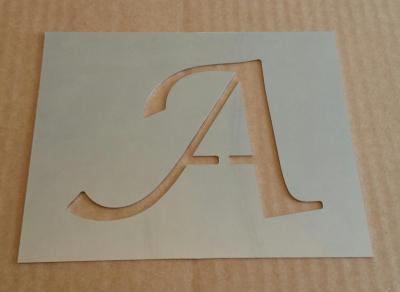 Pochoir lettre métal modèle LUCIDA CALLIGRAPHY