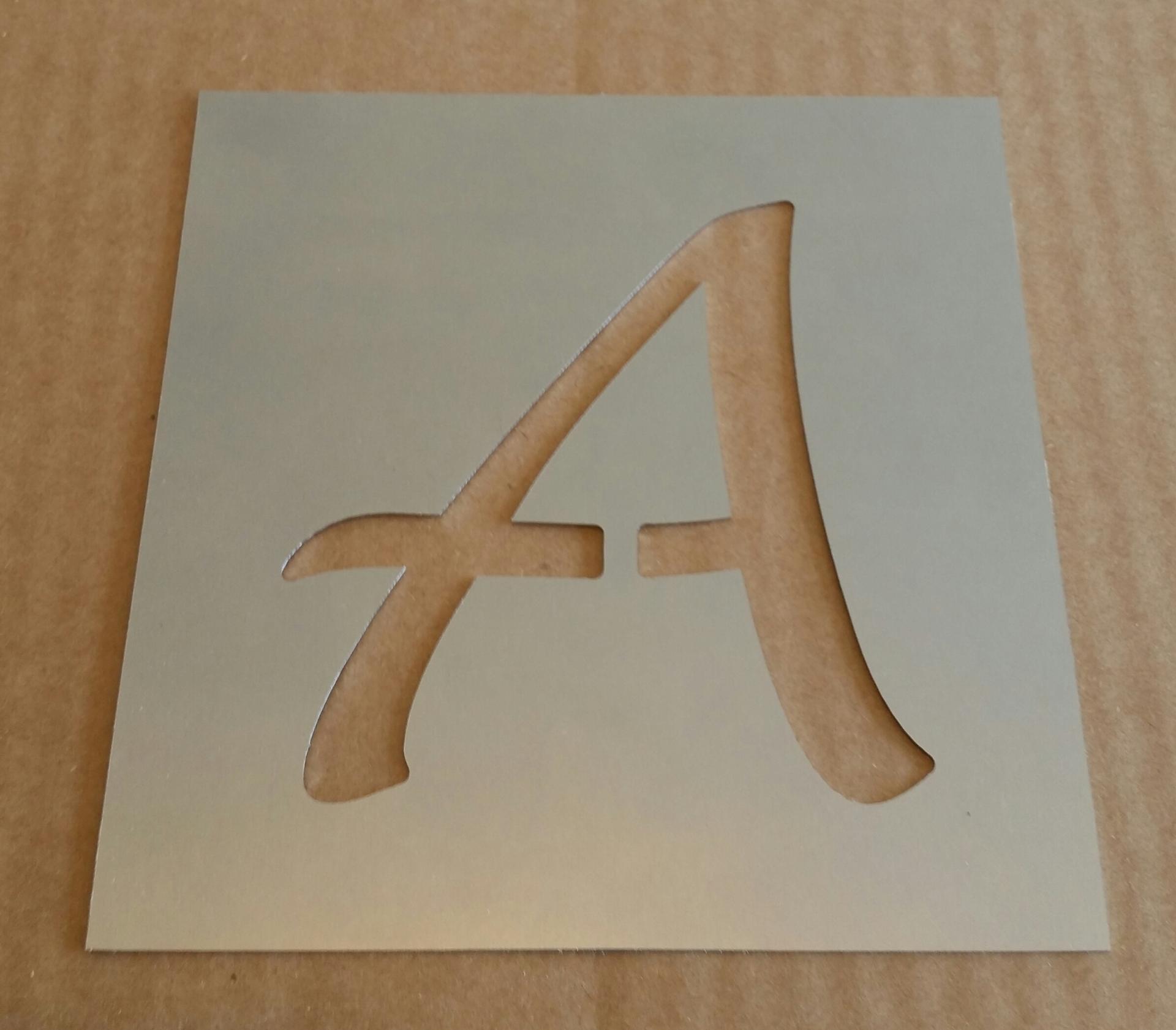 Pochoir lettre metal lucida handwriting