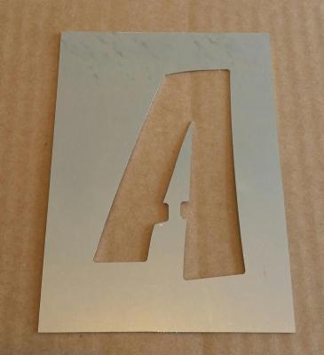 Pochoir lettre métal modèle ZOINKS